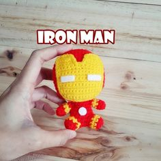 IRON MAN Amigurumi by crochetlike on Etsy SuperheroShop for amigurumi on Etsy, the place to express your creativity through the buying and selling of handmade and vintage goods. Crochet Amigurumi, Amigurumi Patterns, Crochet Dolls, Crochet Patterns, Crochet Stars, Knit Or Crochet, Free Crochet, Iron Man, Yarn Stash