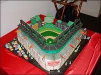 Tarta campo béisbol. Charm City Cakes