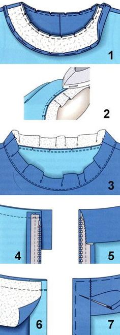 Treatment of the neck and armholes products
