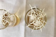 Do it yourself white-chocolate spider webs from @Food52