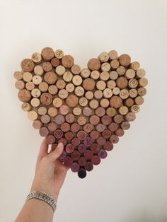 heart shaped wine cork board, rustic charm for weddings, kitchen, office by NordicInKent on Etsy Cork Frame, Diy And Crafts, Arts And Crafts, Cork Ideas, Things To Do When Bored, Cork Art, Kitchen Office, Wine Corks, Rustic Charm