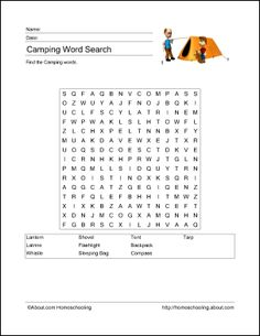 Camping activities for kids!