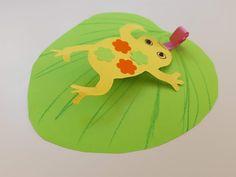 Pohyblivá žába, kterou si můžete snadno udělat i doma. Stačí vám zbytky barevných papírů, nůžky a lepidlo. Přesný postup na webu. Tweety, Origami, Fictional Characters, Origami Paper, Fantasy Characters, Origami Art