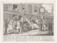 """""""The Lady's Disaster,"""" by John June, c.1746. Lewis Walpole Library Digital Collection, Call #746.12.15.01.1+."""