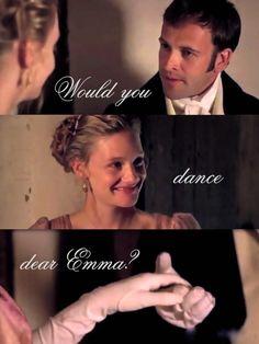 Mr. Knightley & Emma in the 2009 version of Jane Austen's novel. Love it!