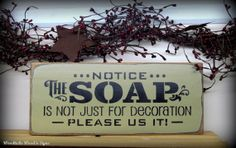 Funny bathroom sign / Wooden sign / bathroom Decor  by Woodticks, $15.95