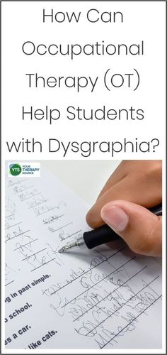 How can Occupational Therapy Help Students with Dysgraphia? If you are a teacher, parent or an OT, learn how you can help students with dysgraphia. Occupational Therapy Schools, Response To Intervention, Handwriting Activities, School Ot, Pediatric Ot, Pre Writing, Writing Ideas, School Psychology, Dyslexia