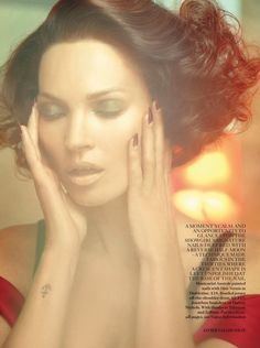 Scarlet Woman: #KateMoss by #JavierVallhonrat for #VogueUK October 2013
