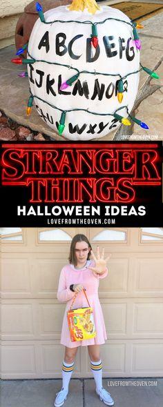 Stranger Things Halloween Ideas for Stranger Things pumpkins, Stranger Things Costume ideas and Eleven!