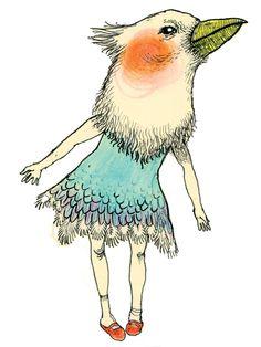 Bird Girl by Magda Boreysza  #illustration