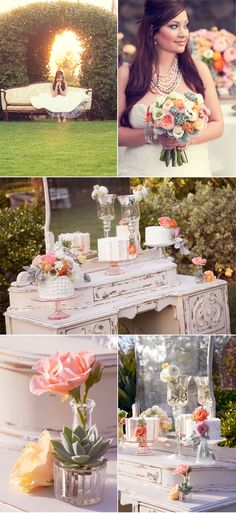 I love the display of the small wedding cakes. photos by Found Creative Studio