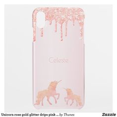 Shop Unicorn rose gold glitter drips pink girly uncommon iPhone case created by Thunes. Rose Gold Pink, Rose Gold Glitter, Rose Gold Backgrounds, Unicorn Fantasy, Drip Painting, White Ink, Apple Iphone, Christmas Gifts, Iphone Cases