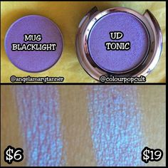 """Check out that price difference! @angelamarytanner found that one of the new @makeupgeekcosmetics Duochrome shadows in """"Blacklight"""" is a total dupe for @urbandecaycosmetics """"Tonic."""" Tag your dupes with #dupethat for a chance to be featured.  by dupethat"""