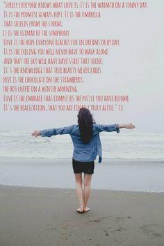 Love. Poem. Gives me chills.