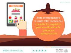 Evitar contratiempos si viajas estas vacaciones consulta los requisitos para movilización de productos agropecuarios. SAGARPA SAGARPAMX #MéxicoSiembraÉxito