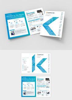 IT系企業のA4二つ折りパンフレット(展開時A3) Company Brochure Design, Graphic Design Brochure, Corporate Brochure Design, Creative Brochure, Graphic Design Posters, Yearbook Pages, Yearbook Layouts, Yearbook Spreads, Magazine Layout Design