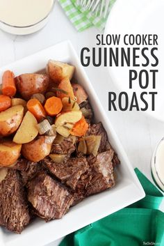 Celebrate St. Patrick's Day with this Slow Cooker Guinness Pot Roast!