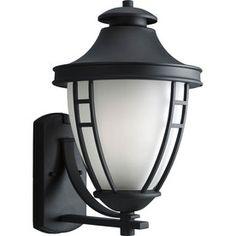 Progress Lighting Fairview 17.75-in H Black Outdoor Wall Light