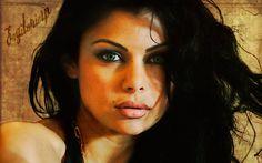Fondo vintage: Haifa Wehbe   Estilo retro.