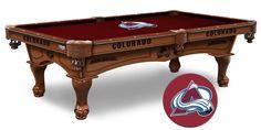 Colorado Avalanche NHL Logo Cloth Pool Table