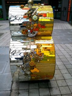 Sculpture outside Mary Seacole Centre in Clapham High St in south London