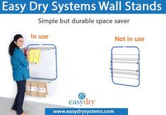 Easydry is a next-generation, super-absorbent fabric that uses the latest technological innovations in textile design to create luxurious disposable towels. Clothes Drying Racks, Clothes Line, Floor Space, Textile Design, Household, Simple, Wall, Medium, Hostel