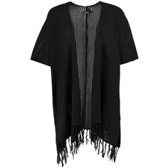 Boohoo Hannah Fringed Sleeve & Hem Cardigan | Boohoo ($12) ❤ liked on Polyvore featuring tops, cardigans, knit top, marled knit cardigan, party tops, fringe cardigans and chunky knit cardigan
