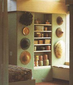 Jack Lenor Larsen - hats and baskets