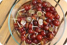 Drunken Grapes.....great idea for a party!