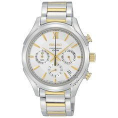 SEIKO Chronograph Two-Tone Stainless Steel Bracelet Μοντέλο: SSB021P1 Η τιμή μας: 214€ http://www.oroloi.gr/product_info.php?products_id=28885