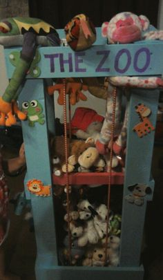 """zoo"" for storing stuffed animals"
