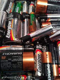 Batteries - An assortment of all kinds (D, C, AA, AAA or 9-volt).