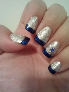 My dallas cowboy nails