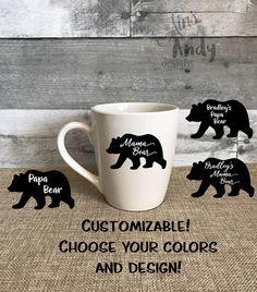 Mama Bear Papa Bear 14 oz Coffee Mug  Mama Bear gift New Mom