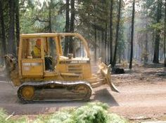 Heavy equipment helping to strengthen containment  Rail Fire, Oregon, 2016: Photo credits Inciweb