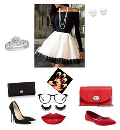"""Untitled #64"" by ashlea2189 ❤ liked on Polyvore featuring Jimmy Choo, Old Navy, Dolce&Gabbana, Coach and Tiffany & Co."