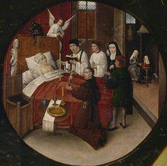 Hieronimus Bosch.  Death of the Sinner