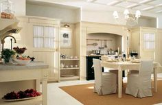 open kitchen and dinning