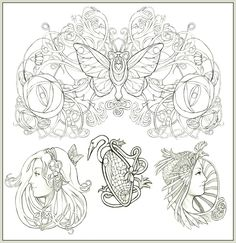 art nouveau style- could you do something like the bottom left that looks like me and jessi