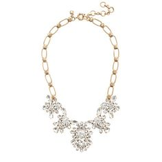 J.Crew - Crystal blooms necklace. Perfect for snazzing-up that old chambray shirt and sweater combo.