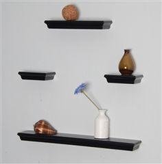4pcs floating wall shelves