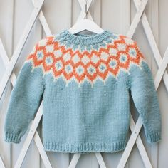 Choose from twelve fabulous and gorgeous Icelandic Sweater Patterns. I fell in love with these Lopapeysa on my trip to Iceland. Baby Knitting Patterns, Jumper Knitting Pattern, Baby Sweater Patterns, Knitting For Kids, Knitting Projects, Nordic Pullover, Nordic Sweater, Toddler Sweater, Baby Girl Sweaters