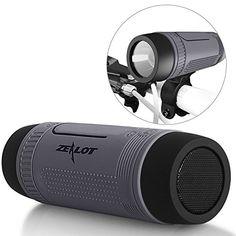 (Outdoor Speakers Portable Bluetooth Bicycle Speaker Zealot S1 4000mAh Power Bank Waterproof Speakers with Full Outdoor Accessories(Bike Mount, Carabiner...)(Gray)) Buy-Accessories.net