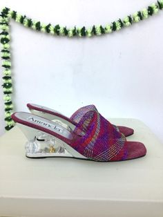 80s Metallic Mesh Crystal Silver Ball Heel by badatpettingcats, $42.00