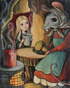 """""""House Mouse"""" , To be used for the book """"Thumbelina"""" (2016) Kelly Vivanco"""