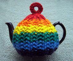 Rainbow tea cozy