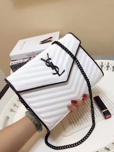 YSL (87usd) Yves Saint Laurent Bags, Adulting, Ysl, Wallets, Coats, Handbags, Purses, Silver, Outfits
