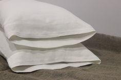 Natural Linen White Dark Gray Pillow Sham Pillow Cover Case Slip Open Closure…