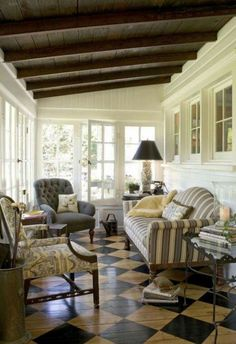 Turn the back porch into a room