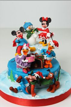 Mickey and his friends in Christmas time